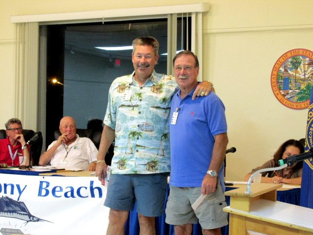 Florida Keys Air Offshore tournament winners, John Tyson (2nd place) and Geza Zoller (1st place)