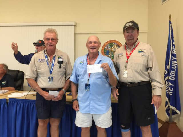 Centennial Bank Yellowtail Classic winners: Dave Burnett (4.1 lbs), Steve Buckeridge (3.5 lbs), Bob Willey (2.8 lbs, tied with John Luciano)